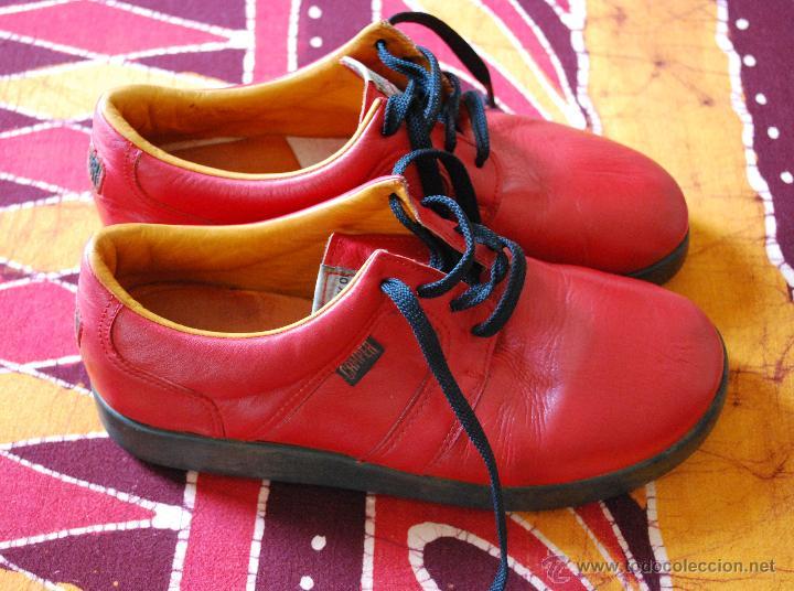 80Piel Camper Nº 40 Adicionales Años Zapatos De Roja Fotos Antiguover Vintage b7gyYf6