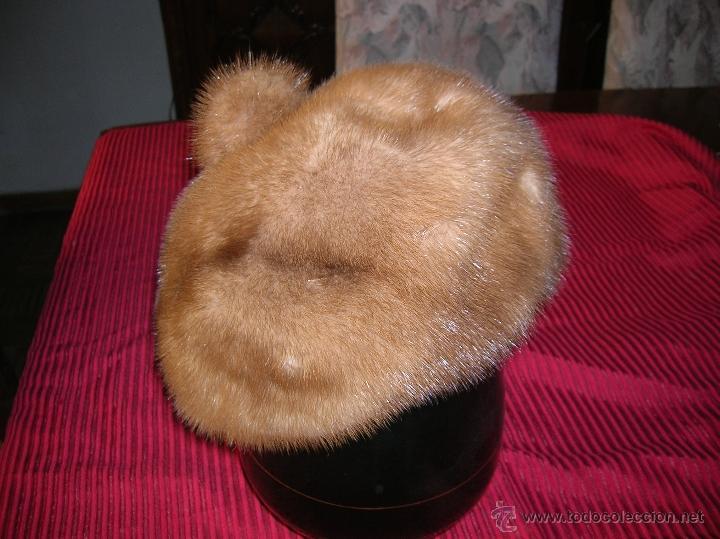 Vintage: Precioso gorro,estilo boina ,de piel de visón - Foto 2 - 51993520