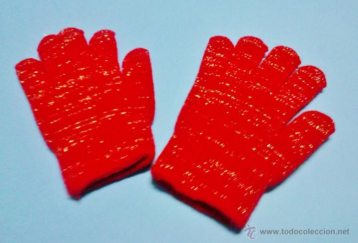 Vintage  guantes magicos - se adaptan a todas las tallas - lana - rojo   9ed605d329f