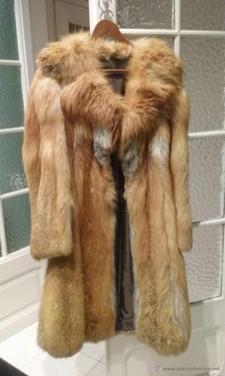 Abrigo piel zorro comprar