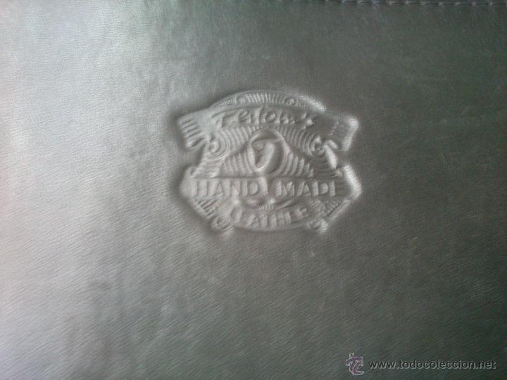 Vintage: ANTIGUO BOLSO EN CUERO HECHO A MANO - Foto 5 - 53608228