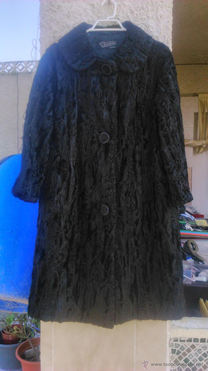 Precioso abrigo de señora de astracán en color negro.talla 38/40.marca g.vermorel géneve, usado segunda mano