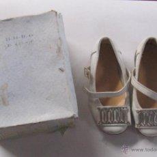 Vintage - ZAPATOS VINTAGE. ZAPATOS INFANTIL CON CAJA. MERCEDITAS. DE PIEL. AÑOS 50. VER FOTOS. Nº 20 - 54665148