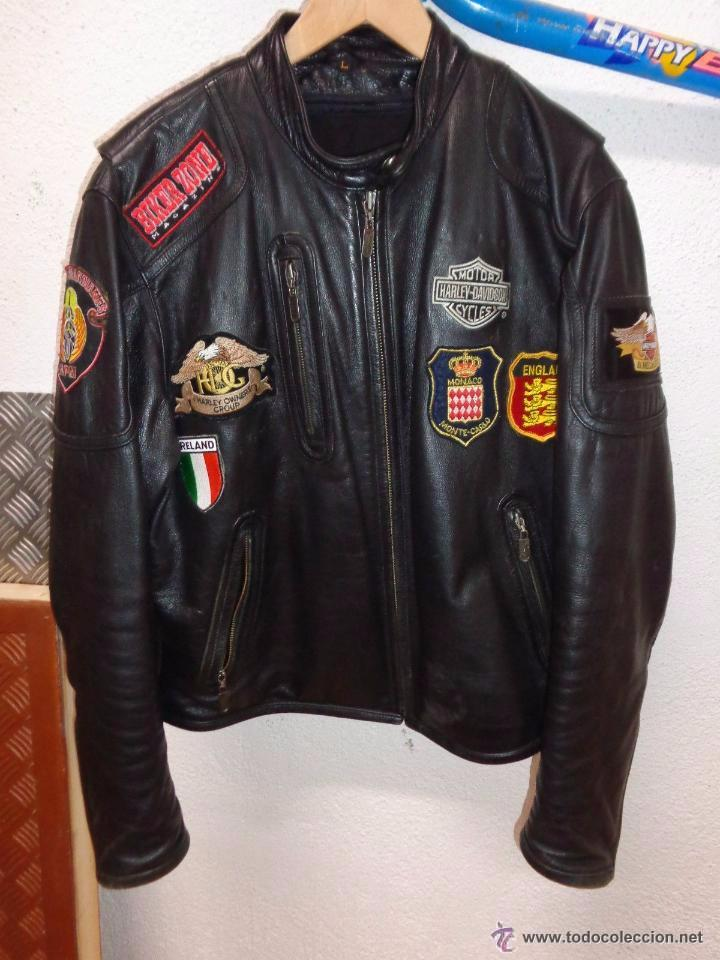 Vintage: Para motero, cazadora motera de cuero original Harley Davisón vintage - Foto 2 - 54700394