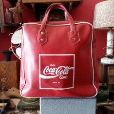 Vintage: BOLSO VINTAGE COCA-COLA CON CREMALLERA. 38 X 38 CM SIN CONTAR EL ASA. Lote 54795584