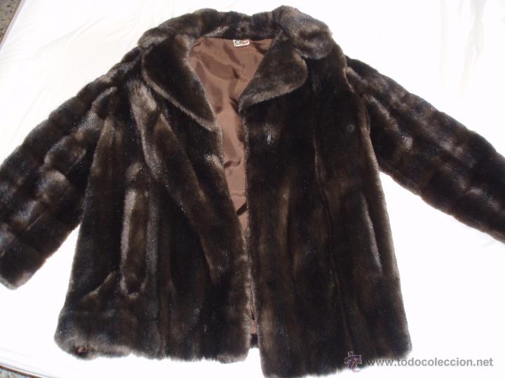 060c9b204d336 Abrigo piel cedora costura imitación fourrures - Vendido en Subasta ...