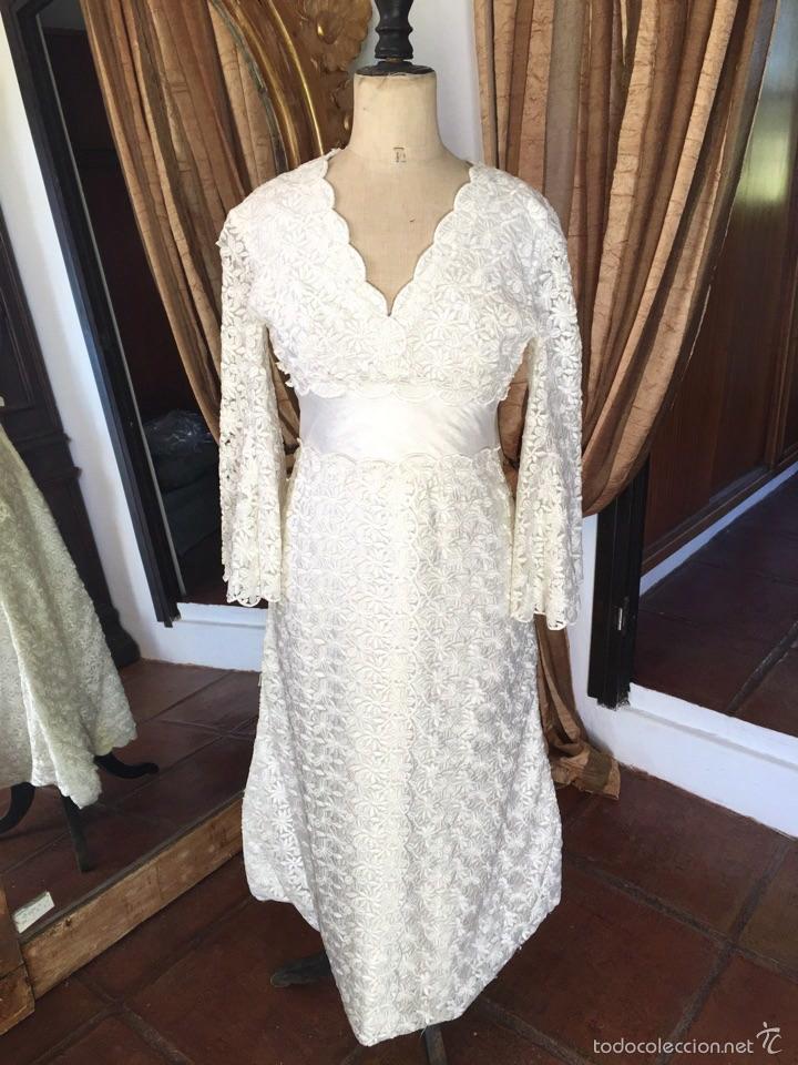 vestido de novia vintage. vintage bridal dress. - comprar moda