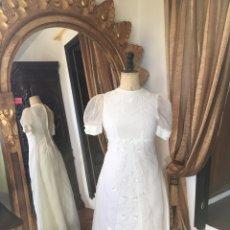 Vintage: VESTIDO DE NOVIA AÑOS 60. VINTAGE BRIDAL DRESS FROM THE 60´S.. Lote 54964041
