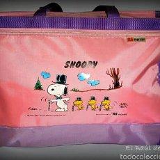 Vintage: BOLSO ESCOLAR NUEVO, AÑOS 70-80. SNOOPY. MARCA ROISE . Lote 54998359