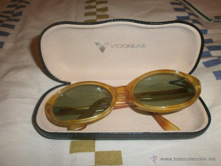 GAFAS DE SOL VINTAGE MONTURA OVALADA MAXIM'S. FUNDA VISIOLAB. (Vintage - Moda - Complementos)