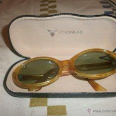 Vintage: GAFAS DE SOL VINTAGE MONTURA OVALADA MAXIM'S. FUNDA VISIOLAB.. Lote 55076212