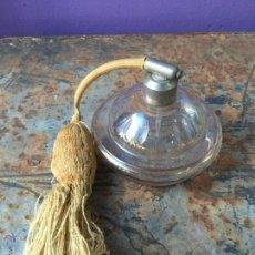 Vintage: PERFUMERO DE CRISTAL CON DIFUSOR TIPO PERA - PERFUME. Lote 55157401