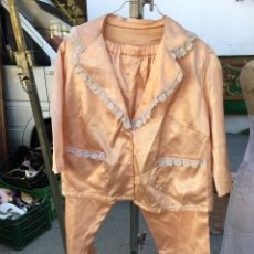 Vintage: PIJAMA DE RASO, AÑOS 60. SATIN LIKE PIJAMAS SET WITH COTTON LACE 60´S. Lote 55363552