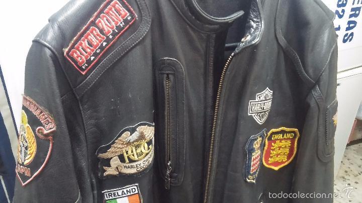 Vintage: Para motero, cazadora motera de cuero original Harley Davisón vintage - Foto 6 - 54700394