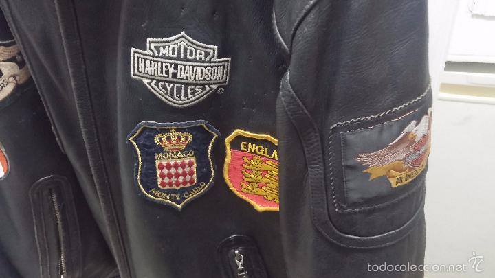 Vintage: Para motero, cazadora motera de cuero original Harley Davisón vintage - Foto 7 - 54700394