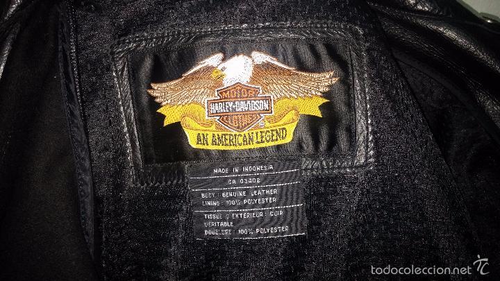 Vintage: Para motero, cazadora motera de cuero original Harley Davisón vintage - Foto 14 - 54700394