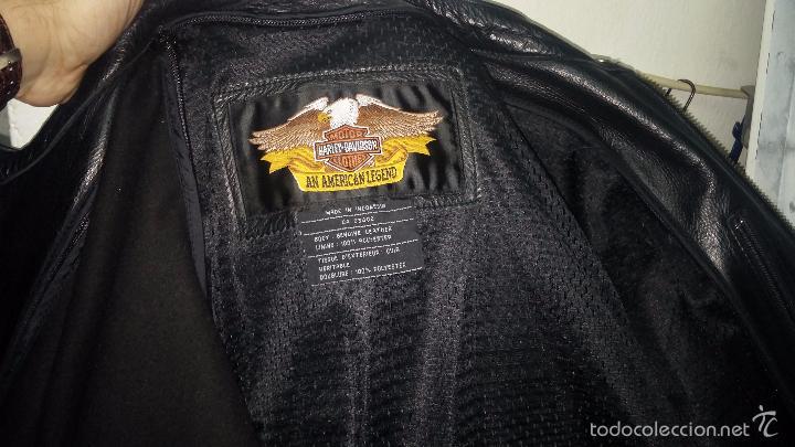 Vintage: Para motero, cazadora motera de cuero original Harley Davisón vintage - Foto 15 - 54700394