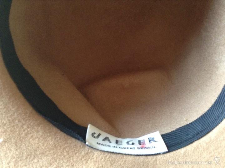 Vintage: Sombrero inglés mujer fieltro /terciopelo - Foto 2 - 56542161