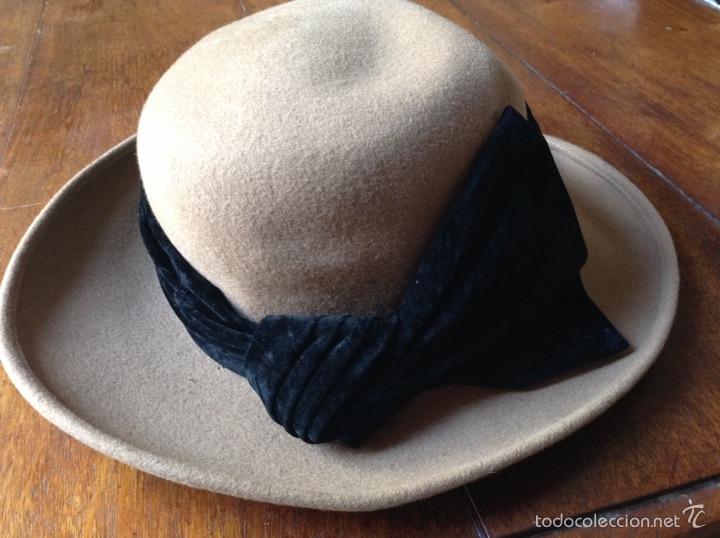 Vintage: Sombrero inglés mujer fieltro /terciopelo - Foto 3 - 56542161