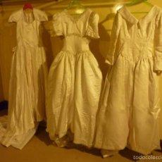 Vintage: LOTE DE 3 VESTIDOS DE NOVIA VINTAGE.. Lote 56609011