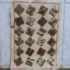 Vintage: BLISTER COMPLETO CON 24 BOTONES DE TIENDA DE CONFECCION FINAL DE LOS 50, SASTRE, MODA, TEXTIL.. Lote 56902848