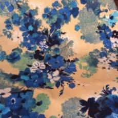 Vintage: RETAL VINTAGE FLORAL EN TONOS AZULES 290 CM X 165 CM. Lote 57083142