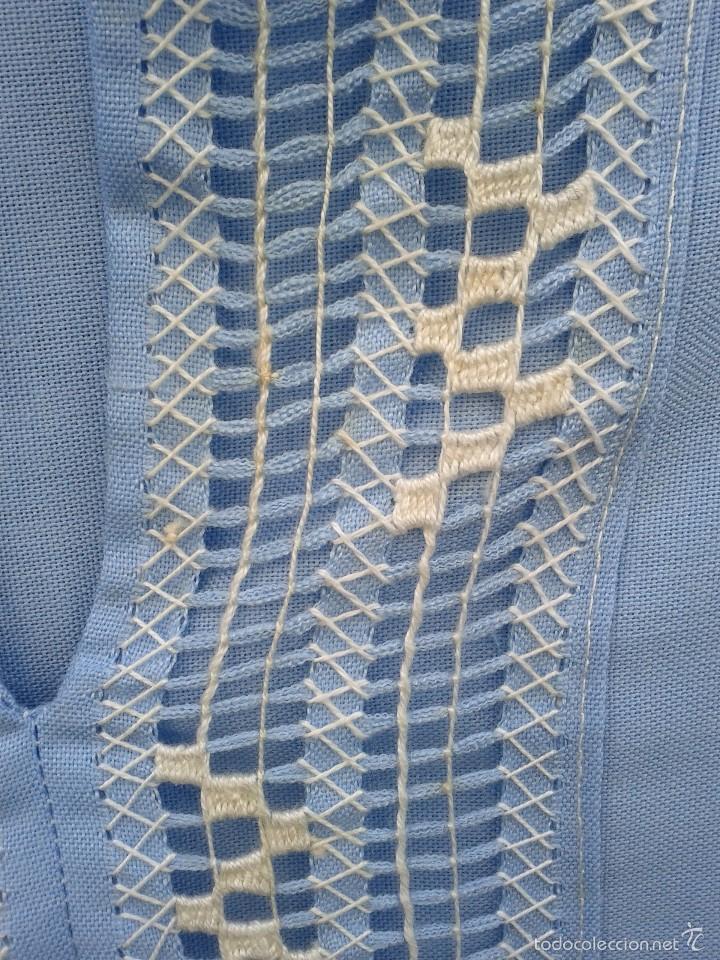 Vintage: Camisa en algodon , bordada a mano en Mejico, hacia 1970. - Foto 4 - 57111457