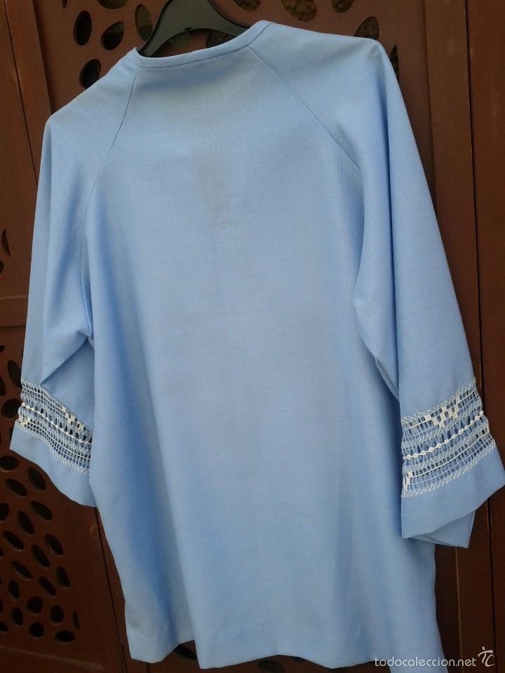 Vintage: Camisa en algodon , bordada a mano en Mejico, hacia 1970. - Foto 5 - 57111457