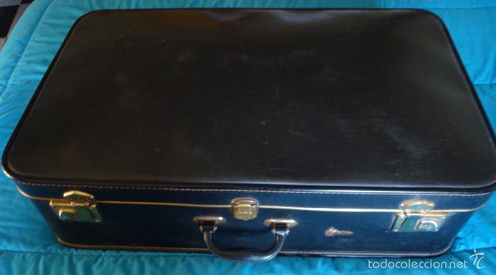 Vintage: Maleta grande Gladiator negra comprada en 1944 viaje de novios - Foto 2 - 57118162