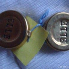 Vintage: VINTAGE BOTÓN EXCLUSIVO COLECCIÓN 2 BOTONES EMBELLECEDOR DORADO CAMISA HOMBRE CABALLERO MARCA ELLE. Lote 58548756