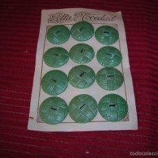 Vintage: MUY ANTIGUOS BOTONES EN SU CARTÓN .ALTA NOVEDAD.. Lote 58626548