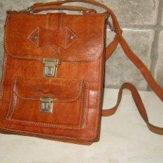 Vintage: BOLSO DE PIEL,BANDOLERA,ORIGINAL AÑOS 70.. Lote 234046210