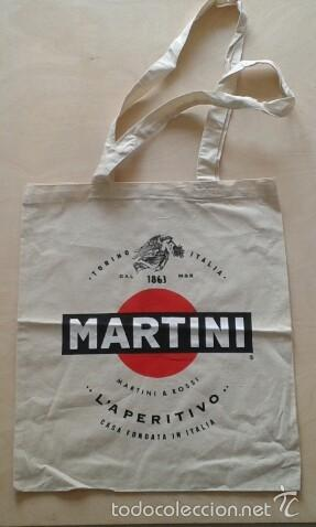 BOLSA DE TELA -- LOGO MARTINI -- CLÁSICO RETRO -- (Vintage - Moda - Complementos)