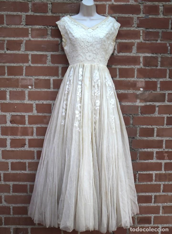 vestido de fiesta de tul bordado años 50 - vest - comprar moda