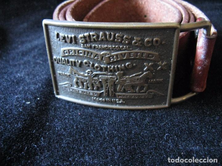 Vintage: EXCELENTE CINTURÓN DE PIEL CON HEBILLA DE LEVI STRAUSS & CO. - Foto 2 - 66224682