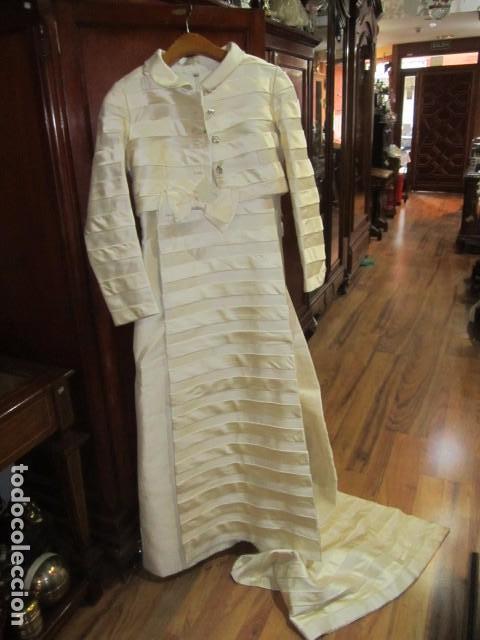 original vestido de novia en seda. chaquetilla - comprar moda