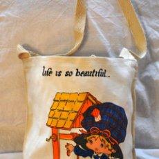 Vintage: BOLSA BOLSO DE TELA YOU ARE MY CANDY GIRL LIFE IS BEAUTIFUL. AÑOS 80. [NUEVA] SIMILAR BONNIE BONNET. Lote 67761181