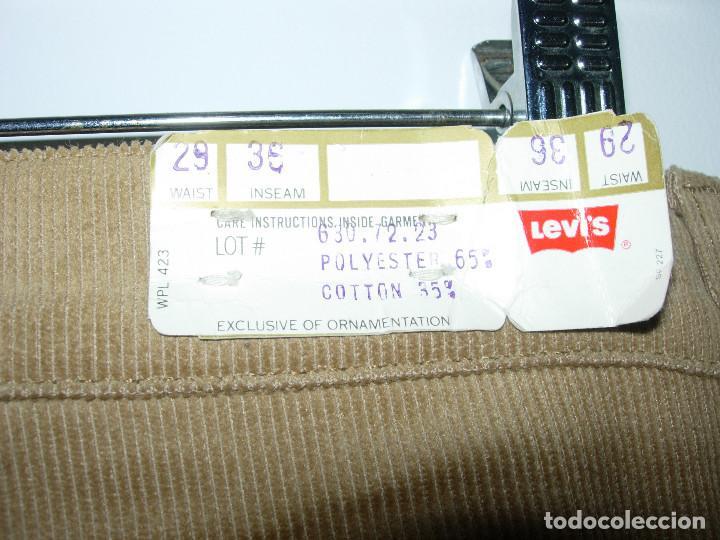 Vintage: levi's pantalón de pana, original años 70-80, nuevo con etiqueta, vintage, W32 L34 - Foto 4 - 144152394