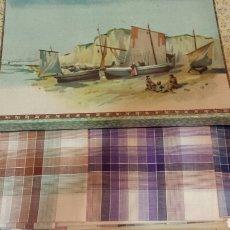 Vintage: PRECIOSA CAJA DE CARTÓN CON 6 PAÑUELOS EN HILO DE ALGODÓN SIN USO. AÑOS 50. Lote 68081959