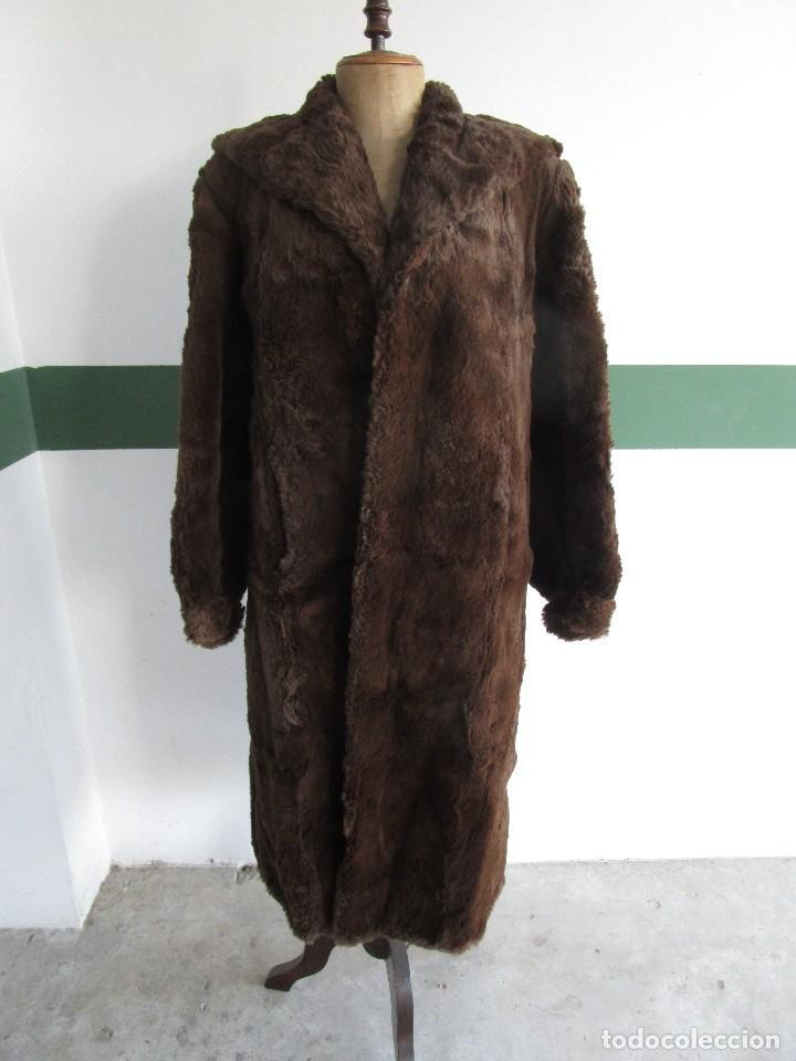 ABRIGO CHAQUETA DE PIEL MUJER TALLA 48-50 (Vintage - Moda - Mujer)