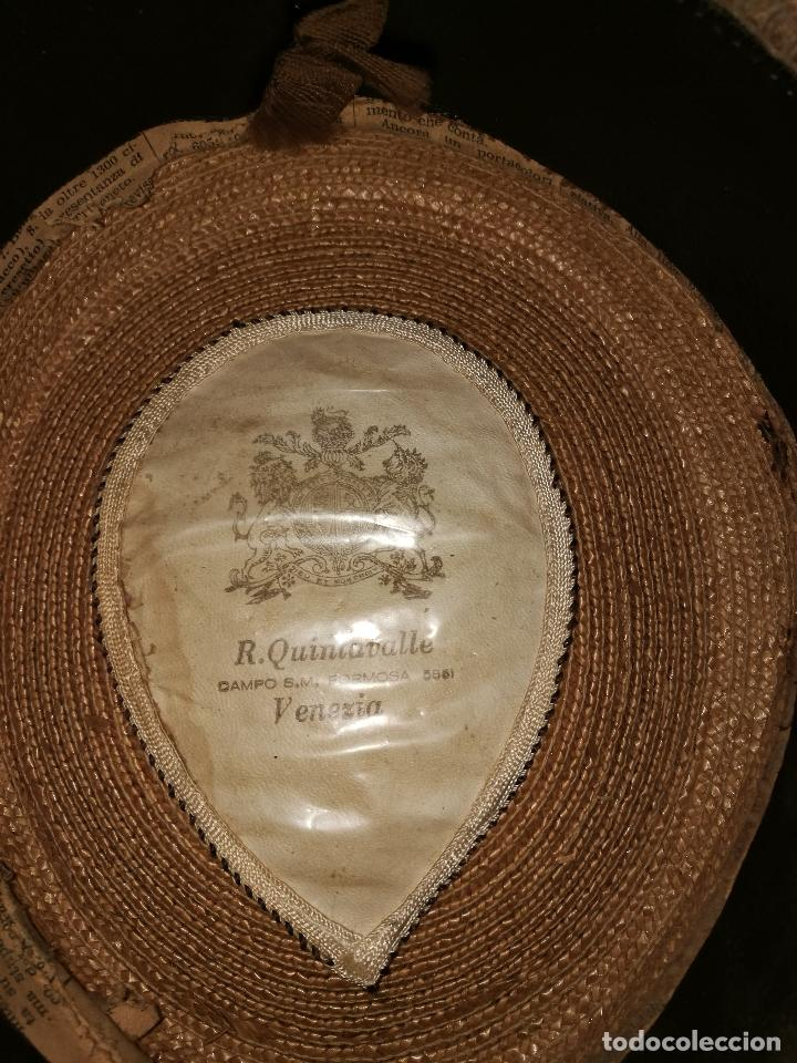 Vintage: Sombrero de gondolero - Foto 3 - 70178269