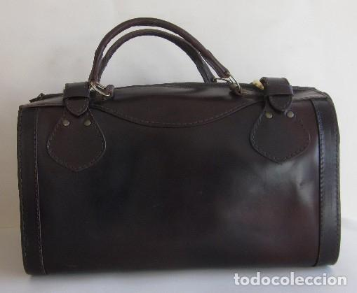 Vintage: BOLSO TIPO MALETIN EN CUERO - AÑOS 60 - Foto 2 - 174599254