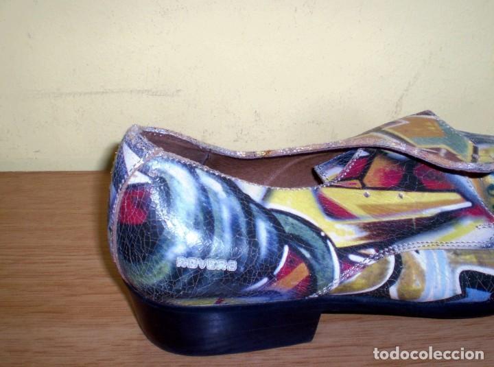 Vintage: Zapatos de diseño grafiteados en piel de la casa rovers.Numero 44. - Foto 4 - 72429211