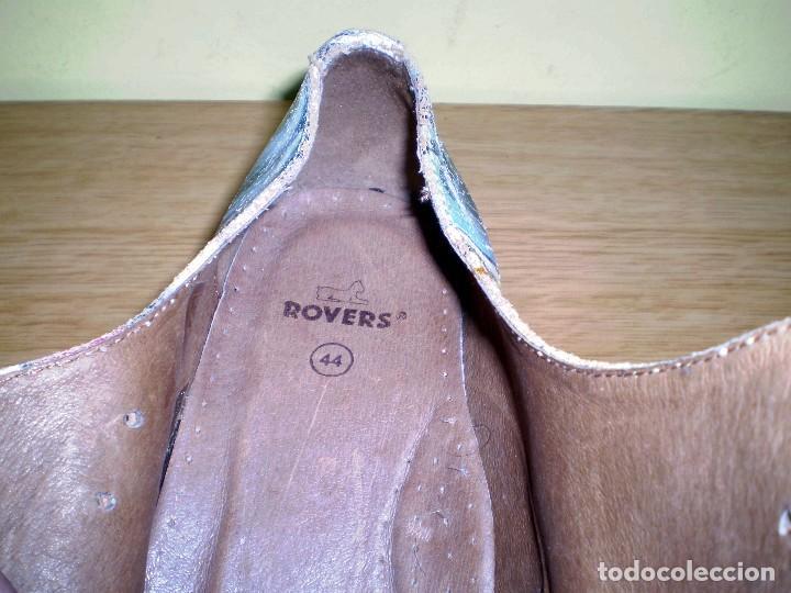 Vintage: Zapatos de diseño grafiteados en piel de la casa rovers.Numero 44. - Foto 5 - 72429211