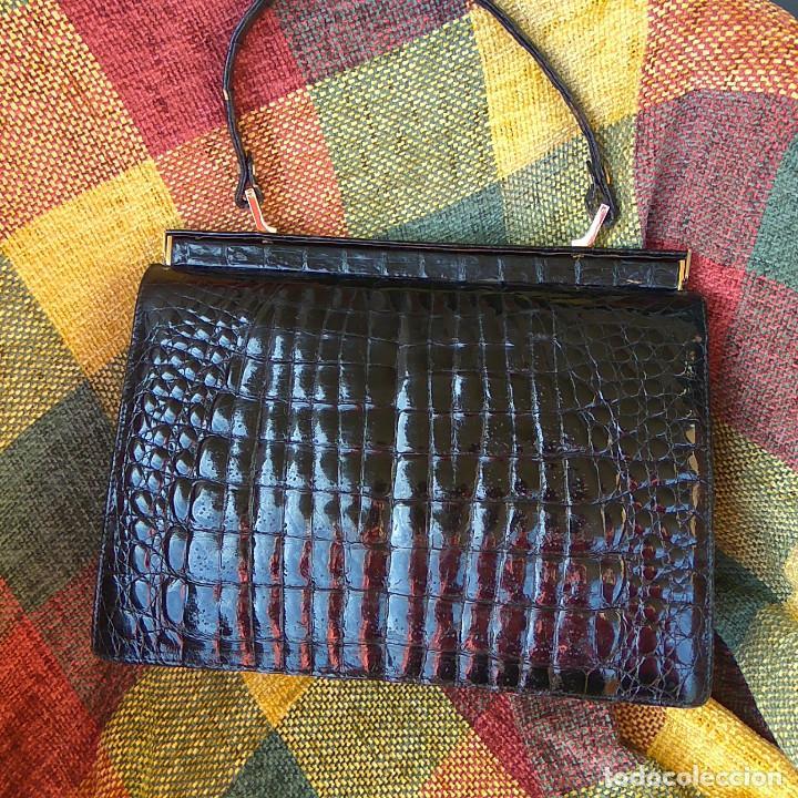 Bolso Autentico En Complementos negro Cocodrilo Vintage Comprar xqTqZf6wFn