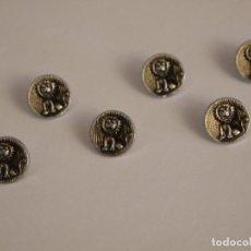 Vintage: 6 BOTONES METAL PLATEADO PARA BLUSA. AÑO 1964. Lote 73470683