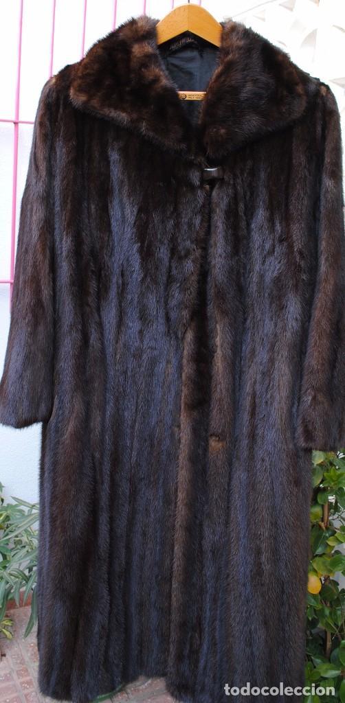 ABRIGO DE VISON BLACKGAMA ORIGINAL - TALLA 46/48 EN PERFECTO ESTADO (Vintage - Moda - Mujer)