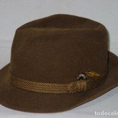 Vintage: ANTIGUO SOMBRERO FIELTRO DE PELO O FIELTRO DE LANA, TIPO BORSALINO. ALEMANIA. MARCA MAYSER. AÑOS 70. Lote 50328695