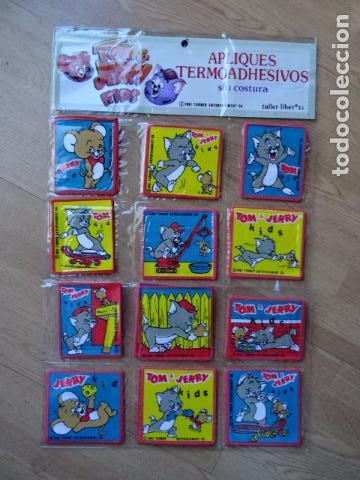 Vintage: PARCHES VINTAGE DE LOS 80/90 - TOM Y JERRY - APLICACIONES TERMOADHESIVAS COLECCION COMPLETA DE 12 - Foto 13 - 75224927