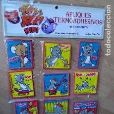 Vintage: PARCHES VINTAGE DE LOS 80/90 - TOM Y JERRY - APLICACIONES TERMOADHESIVAS COLECCION COMPLETA DE 12 . Lote 75226659